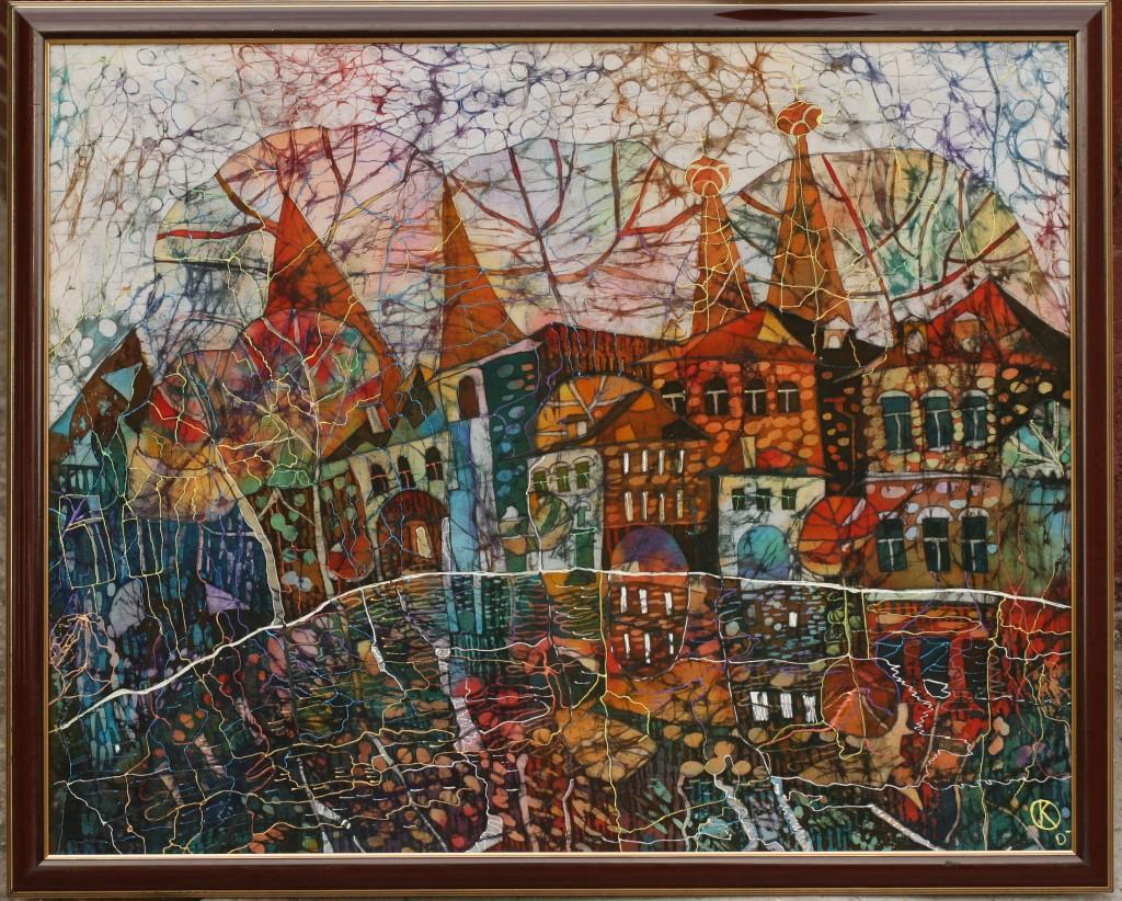 осень в старом городе-батик