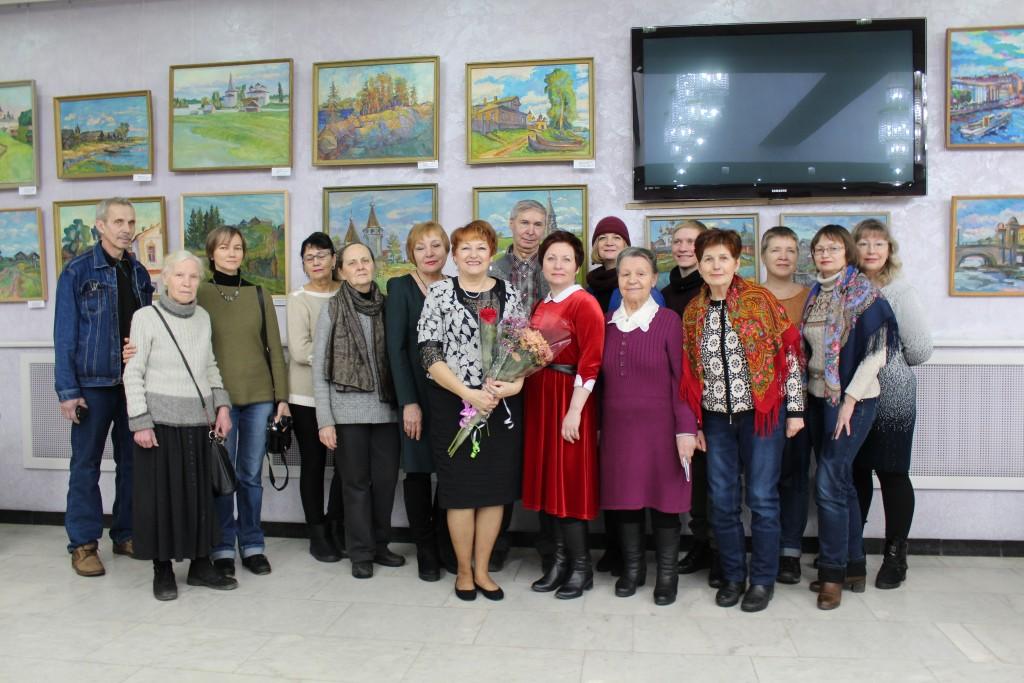 Выставка Елены Мальцевой ЧЕТЫРЕ ОБРАЗА ВРЕМЕНИ Фото с друзьми